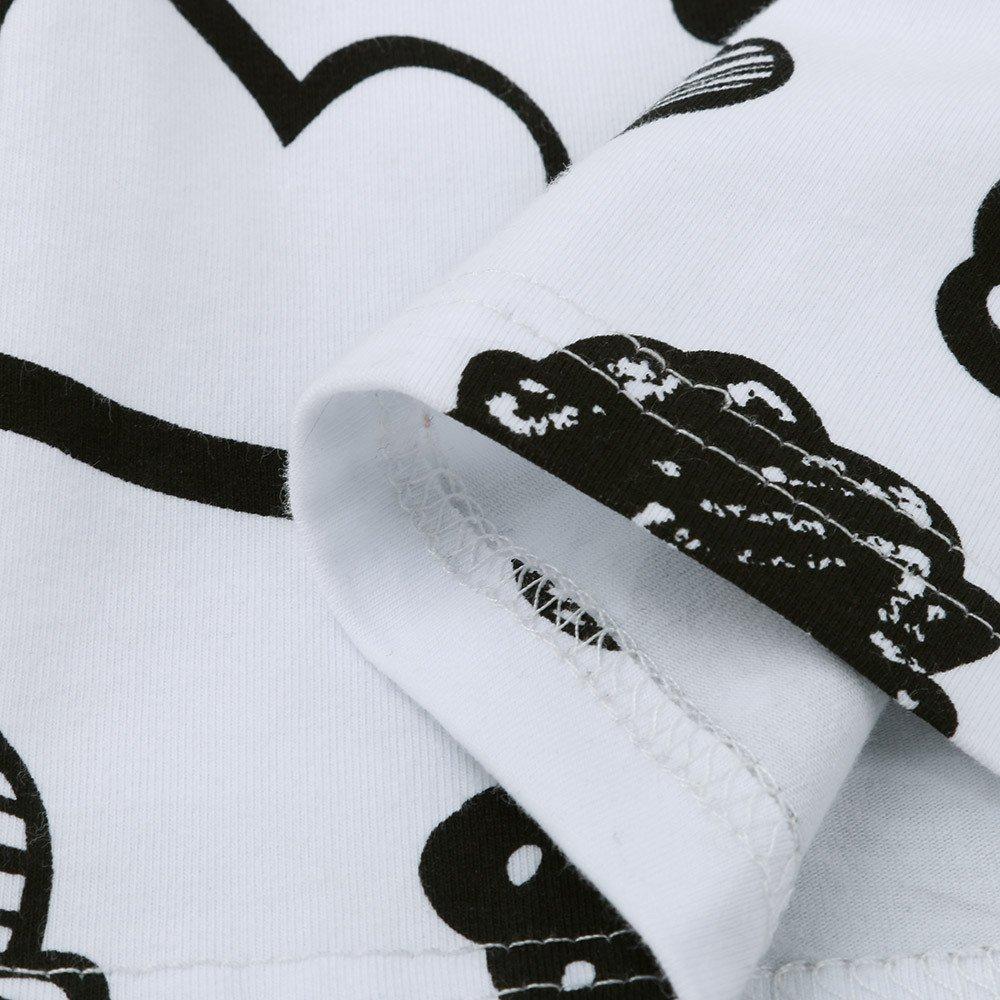 Pantalones Conjuntos Ropa Conjunto Greenwind Mono Corto para ni/ños peque/ñosReci/én Nacido beb/é ni/ña ni/ño Nube Estampado Camiseta Tops