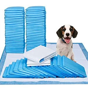 "Petphabet Puppy Dog Training Potty Pee Piddle Pads - 50 Count 100 Count 150 Count Box - 23"" x 24"" Large - Ultra-Absorbent Pet Pee Pee Pads for Puppy Housebreaking"