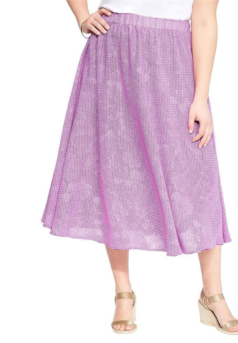 Las mujeres de plus size Reversible falda, 2 VE por el precio de ...