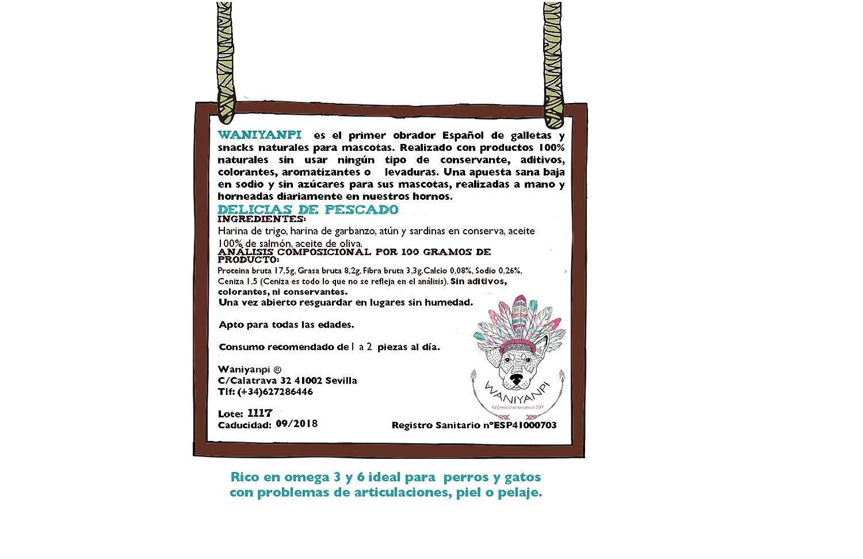 Delicias de pescado - Galletas 100% naturales para gatos y perros mini-: Amazon.es: Productos para mascotas