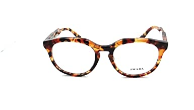 36876ed24730 Prada Journal Rx Eyeglasses Frames Vpr 13S Ubm-1o1 50x18 Orange Havana Italy   Amazon.co.uk  Clothing