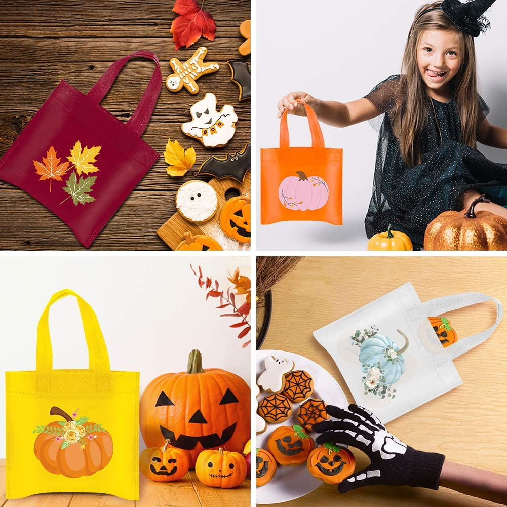 20PCS UTOPP 20Pcs Pumpkin Party Bags,Halloween Reusable Party Treat Bags Unicorn Gift Goody Bags for Unicorn Party Favors,Autumn Party,Little Pumpkin,Baby Shower,Halloween and Thanksgiving Day
