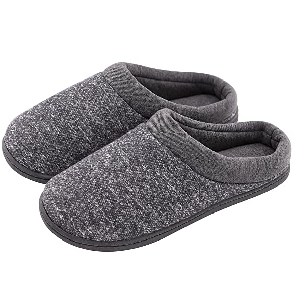 Women's Comfort Slip On Memory Foam French Terry Lining Indoor Clog House Slippers (Medium / 7-8 B(M) US, Light Gray) best women's slippers