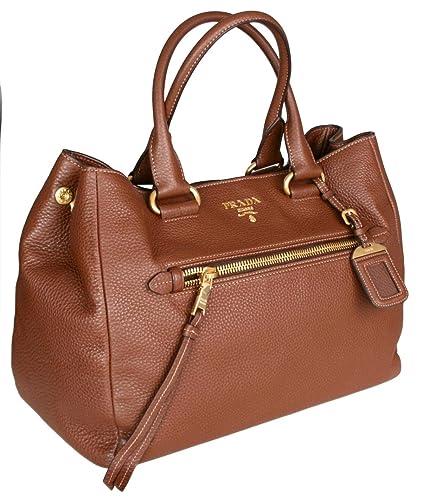 47823e02fe Prada Women's BN2793 UWL F0BW5 Brown Leather Shoulder Bag: Handbags ...