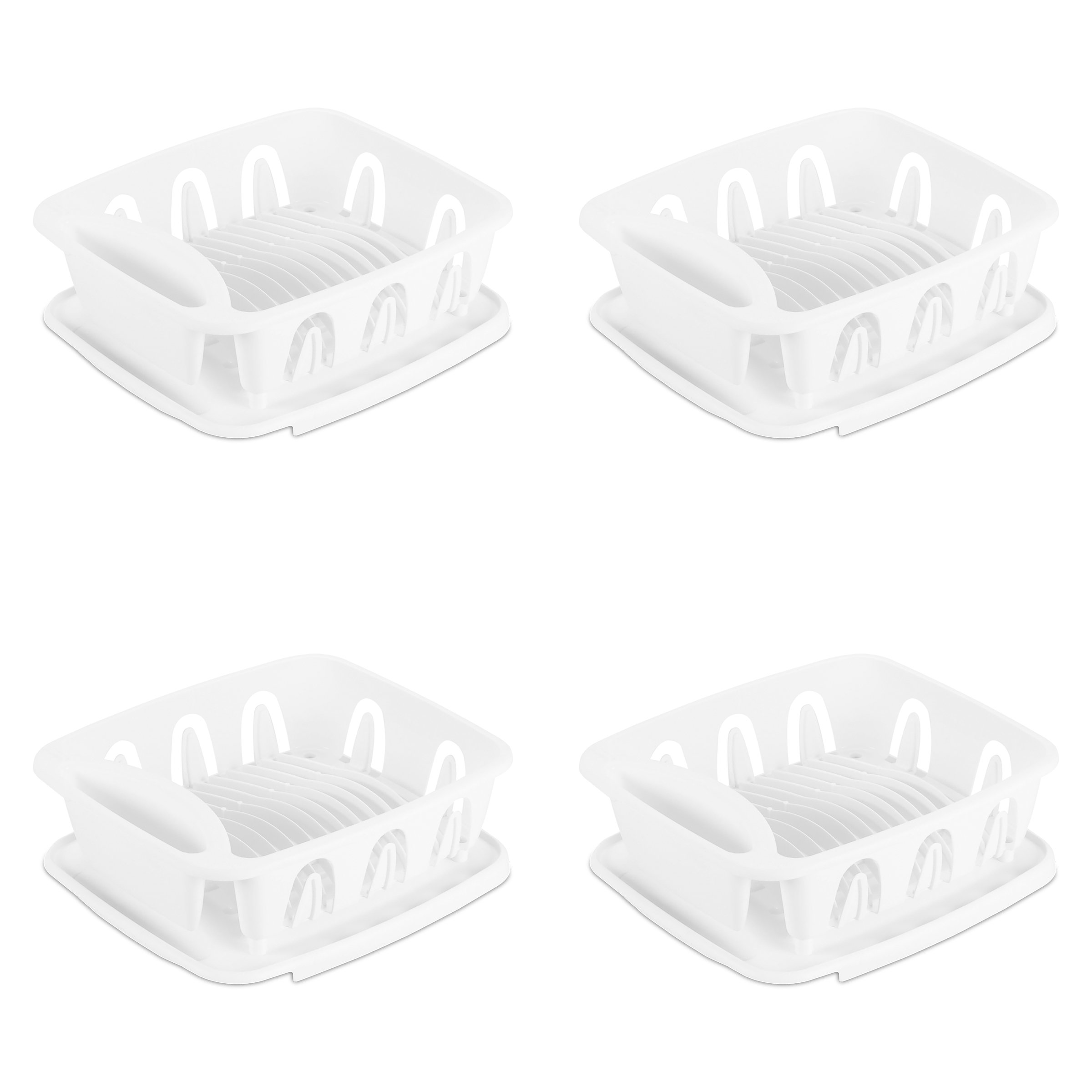 STERILITE 06368004 Small 2-Piece Sink Set, White, 4-Pack by STERILITE