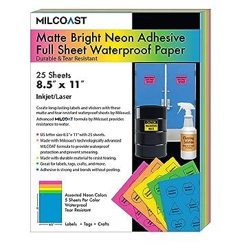 Amazon.com: Milcoast - Hoja completa de neón brillante de ...