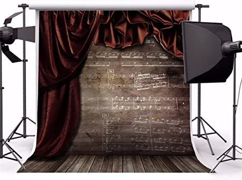 AOSTO Photography Backdrop Photo Studio Background Portraits Photo Booth Brown Curtain Econ Vinyl XT-1552-1