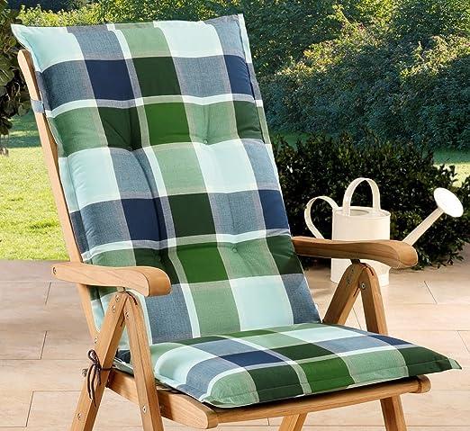 Schwar Textilien - Cojines para sillas de jardín con respaldo alto, 3 colores: Amazon.es: Jardín