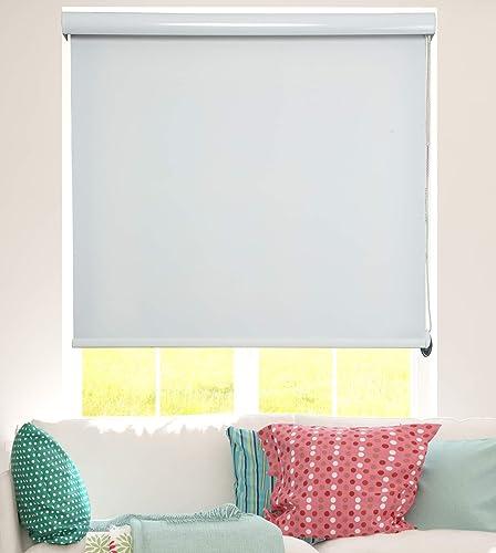 ShadesU Room Darkening Light Filtering Roller Shades Blinds Window Treatments Maxium Height 72inch Ecru Color – Width 100 inch