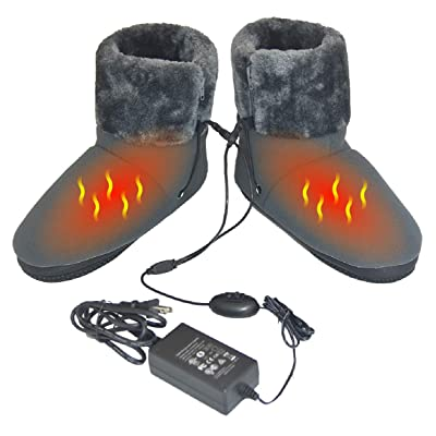 ObboMed MF-2320M Far Infrared Carbon Fiber Heated Foot Warmer/Boots/Slipper, 12V 20W – Far Infrared wavelength 8-15 μm (Health Range: 4-14 μm), Auto Off, Size M: #41 (fits Foot up to 41): Health & Personal Care