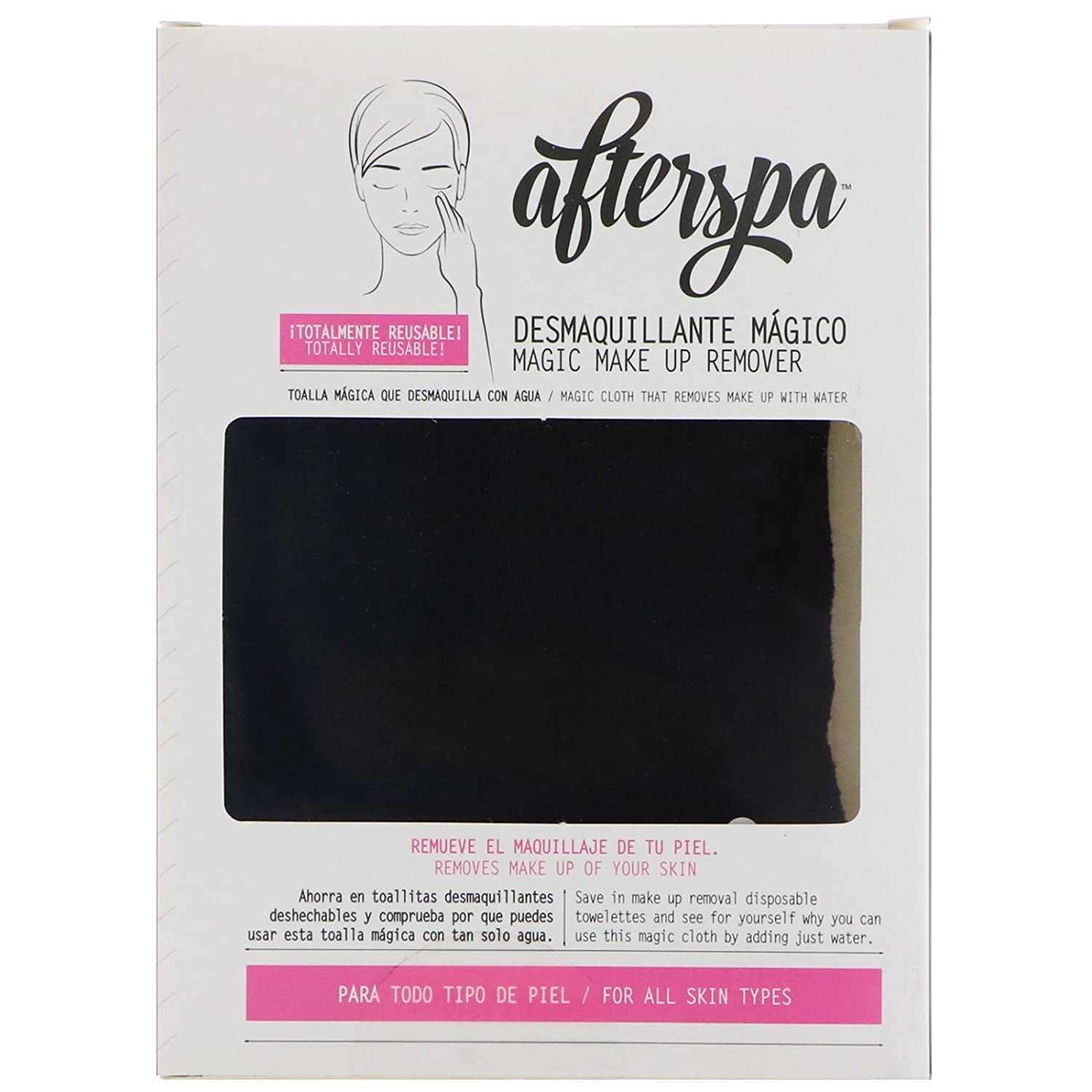 Amazon.com : AfterSpa Magic Make Up Remover Reusable Cloth Black 1 Cloth : Beauty