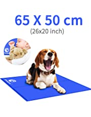 Shinyee 2019 Dog Cooling Mat Cool Non-toxic Gel Cooling Pad for People Dogs Cat and Pets, Puppy Self Cooling Cushions Bed Sofa in Summer, Ideal for Home Travel Cars Laptop Mattress Floor(65x50cm(25.6x19.5 in))
