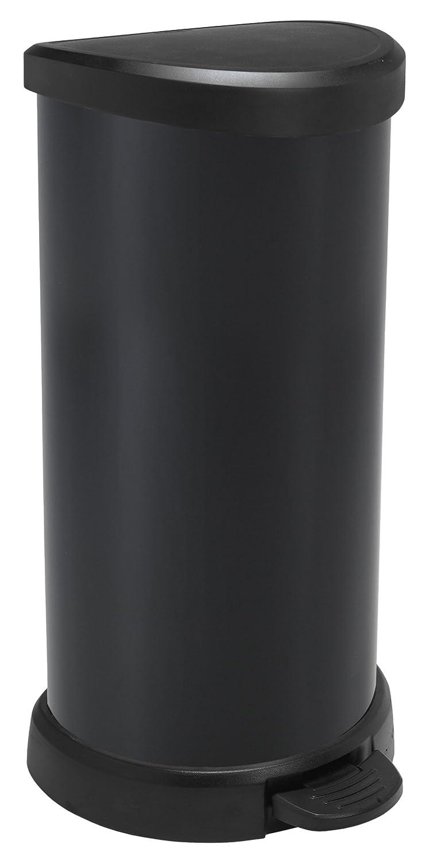 pl/ástico 29,8 x 34,9 x 69,7 cm pl/ástico CURVER/ /Cubo de Basura 40l Colors Gris