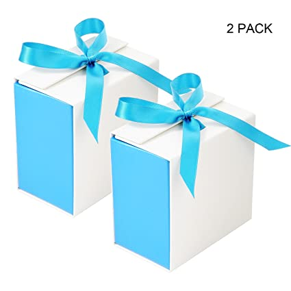 Gift Boxes Bezgar Gift Bags Party Favor Gift Wrapping Display Treat Box Christmas Gifts Jewelry Gift Cardboard Boxes 7 8 X 7 8 X 4 7 2pcs