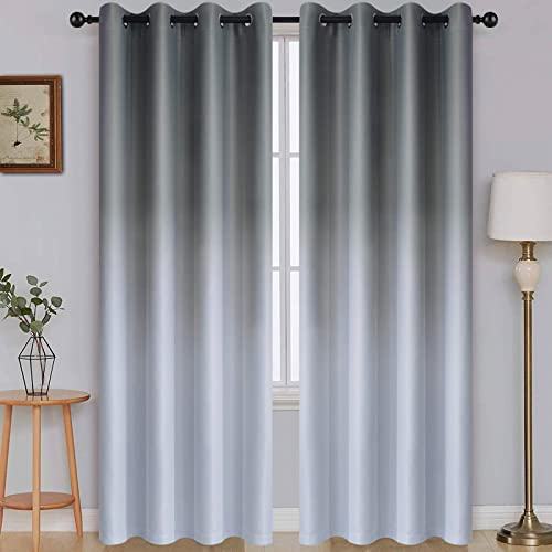 SimpleHome Ombre Room Darkening Curtains - the best window curtain panel for the money