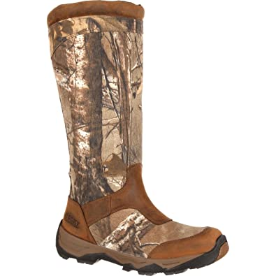 "Men's 17"" Retraction Waterproof Side-Zip Snake Boot-RKS0243"