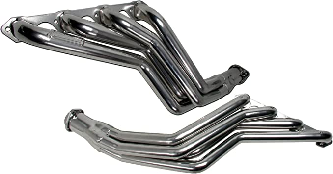 bbk performance 1569 1 3 4 long tube full length high flow performance exhaust headers for ford mustang 302 to 351 swap fit with c 4 or c 6 trans