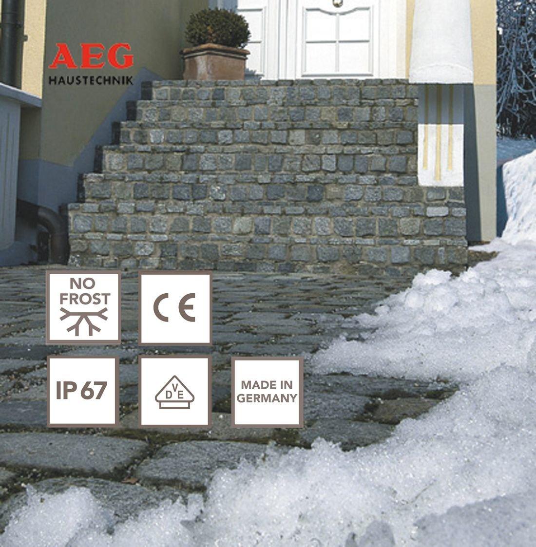 selbstregulierend mit Thermostat steckerfertig 232559 5 m AEG Rohrbegleit- oder Dachrinnenheizung SLH 25//L5 ST k/ürzbar