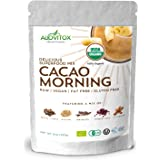 Cacao Quinoa Mesquite Cinnamon Powder -Delicious Smoothie Superfoods Energy Mix -Certified Organic by Alovitox- Zero Sugar Vegan Gluten Free 8oz Pouch