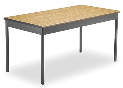 OFM UT3060 OAK Utility Table, 30 By 60 Inch, Oak