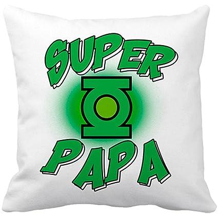 Cojín con relleno Súper Papá Hulk - Blanco, 35 x 35 cm ...