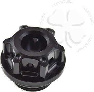 Black CNC GP Engine Oil Cap CNC Aluminum Filler For Honda CBR CB VTR VT Seal