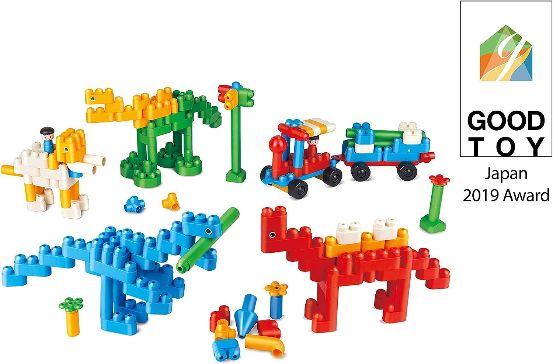 PolyM 760009Paradies Niños Pequeños de Dinosaurio de Juguete, Flexible y rundkantige Ladrillos