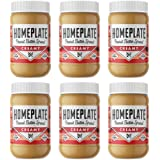 Peanut Butter, Creamy, Healthy, Natural, Gluten Free, Non-GMO, 16oz Jar, Pack of 6 by HomePlate Peanut Butter