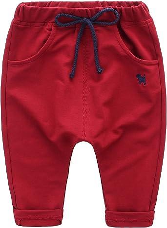 DEBAIJIA Pantalones Deporte Harem de bebé niños Holgado algodón con Elasticidad Pretina comódo Casuales Pantalones patrón de Perro Azul - 100: Amazon.es: Ropa y accesorios