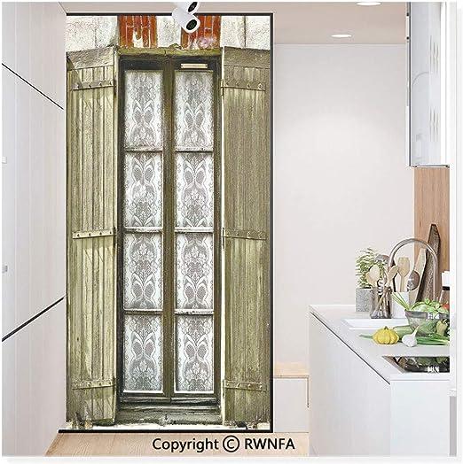 Película de vidrio sin pegamento para ventana, adhesivo de papel para privacidad, decoración para puerta de