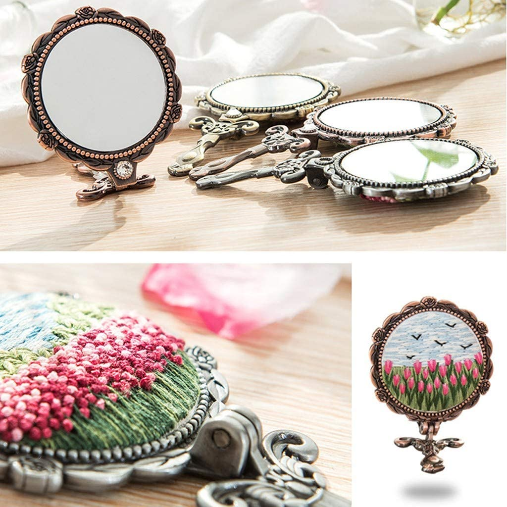 RICH-Po Embroidery Cross Stitch Stamped Make Up Lens Floral Plant Kit Hand Embroidery Starter Set with Needles /& Instructions A