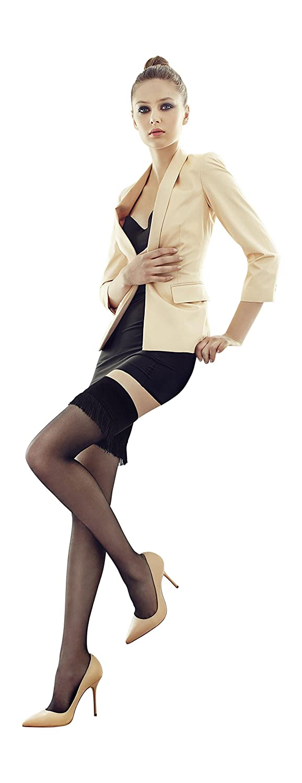 Womens Fashion Hosiery Luxury Classic Tasseled Hold Up Stockings 15 Denier MARILYN