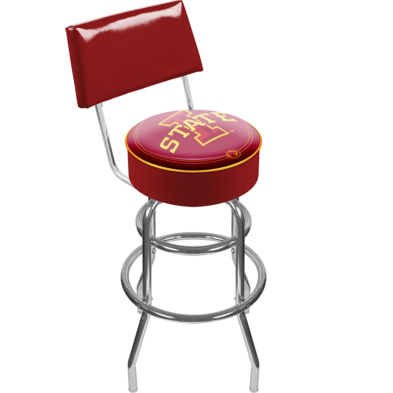 NCAA Iowa State University Padded Swivel Bar Stool with Back