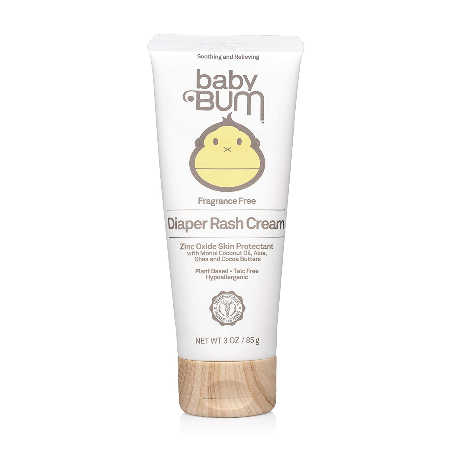 Baby Bum Diaper Rash Cream - Fragrance Free – Natural Zinc Oxide for Maximum Relief and Rash Prevention – Sensitive Skin Safe – Travel Size – 3 oz