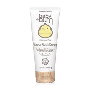 Baby Bum Diaper Rash Cream - Fragrance Free – Natural Zinc Oxide for Maximum Relief and Rash Prevention – Sensitive Skin Safe – Travel Size – 3 oz