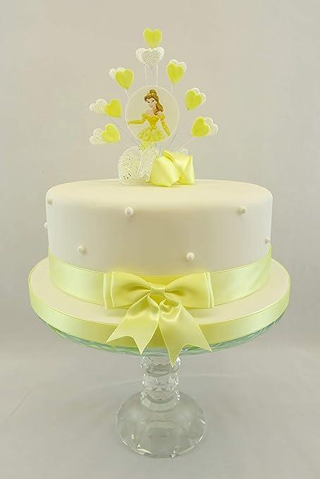 Cake Decoration Belle Disney Birthday Heart Burst Cake Topper With ...
