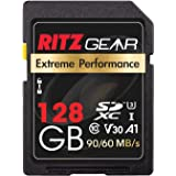 Extreme Performance High Speed UHS-I SDXC 128GB SD Card 90/60 MB/S U3 A1 Class-10 V30 Memory Card Designed for SD Devices Tha