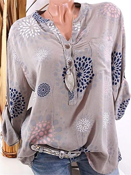 Camisa Plus Size 5XL Blusas for Mujer Ropa Top tee Blusa Camisa Mujer Moda Blusa Feminina Blusas (Color : 0089 Khaki, Size : XXXL): Amazon.es: Hogar