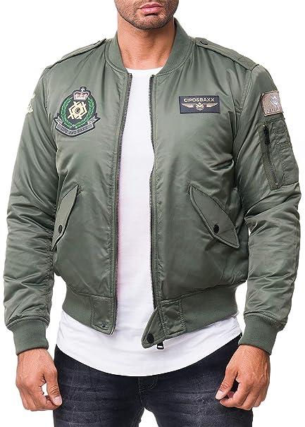 Cipo & Baxx Herren Bomber Piloten Jacke Dope Streetwear