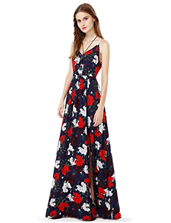 7fa755d2c7209 Alisa Pan Sleeveless Floral Printed Maxi Dress 08983 at Amazon Women's  Clothing store: