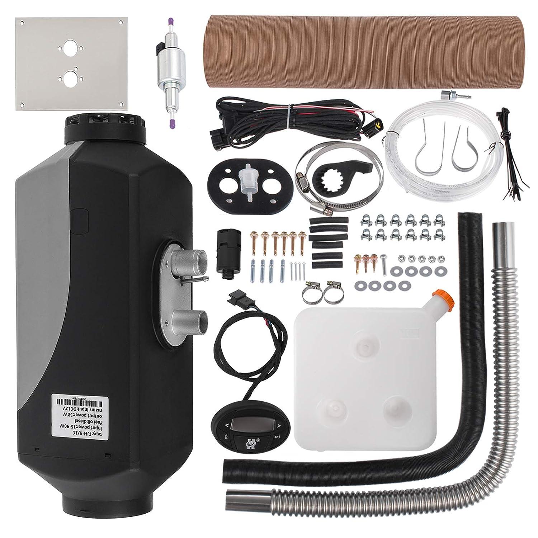 HODOY Riscaldatore digitale 5KW Termostato diesel Riscaldatore elettrico 12V Riscaldatore elettrico a gas per camper Camper e autobus (12V 5KW Senza Silenziatore)
