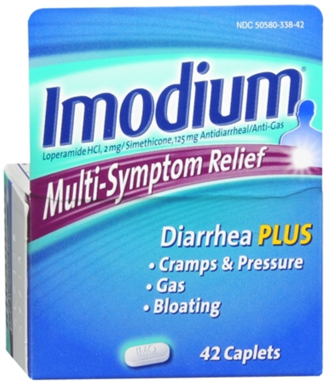 Imodium Multi-Symptom Relief Caplets 42 ea (9 Pack) by Pharmapacks