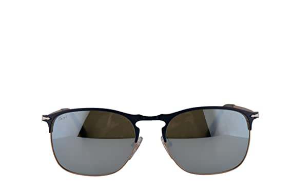 6aab47cbdb Image Unavailable. Image not available for. Color  Persol PO7359S Sunglasses  Blue Bronze w Light Green Mirror Silver Lens 58mm 107330 PO 7359