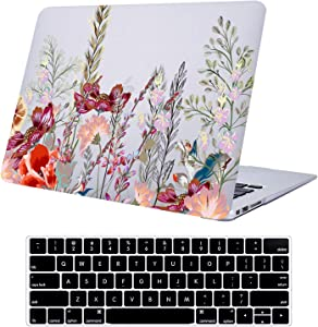 Compatible with MacBook Pro 13 Inch Case Retina Display 2015-2012 Release A1502/A1425,Funut Clear Plastice Hard Case Protective Cover with Keyboard Cover for MacBook Pro 13 Inch Retina, Flowers