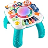 Dahuniu Baby Toys 6 to 12 Months, Learning Musical Table, Activity Table for 1 2 3 Years Old ( Size: 11.8 x 11.8 x 12.2 inche