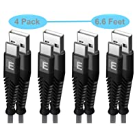 4-Pack Beam Electronics 6.6-ft Nylon Braided USB Type C Cables