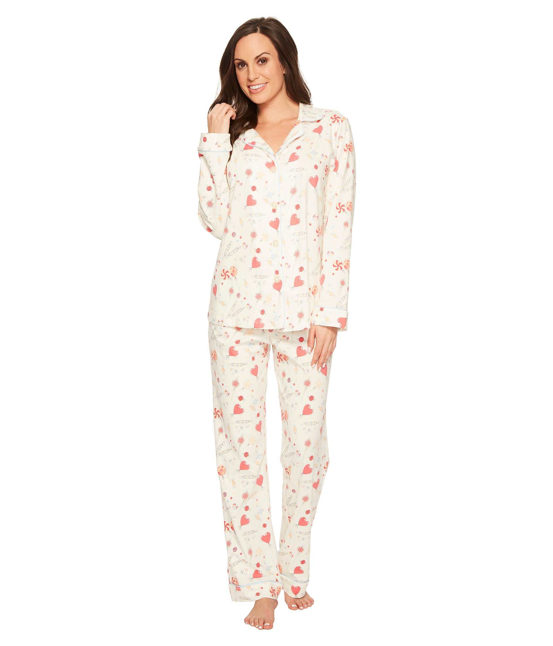BedHead Women's Long Sleeve Classic Stretch Knit Pajama Set Sweet Tooth Medium