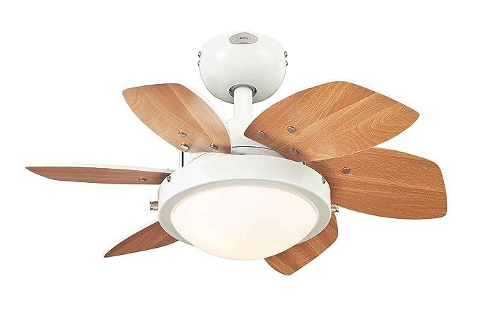 Plafoniere Con Pale : Westinghouse lighting quince ventilatore con pale cm