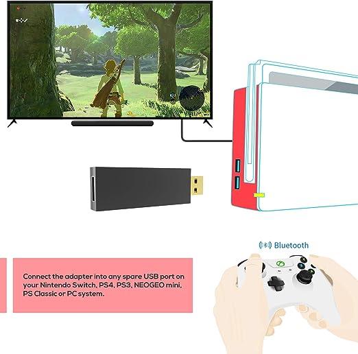 Mayflash MAGIC-S Pro Wireless Controller Adapter for Nintendo Switch , PS4,PS3, PC, NEOGEO mini, PS Classic: Amazon.es: Videojuegos