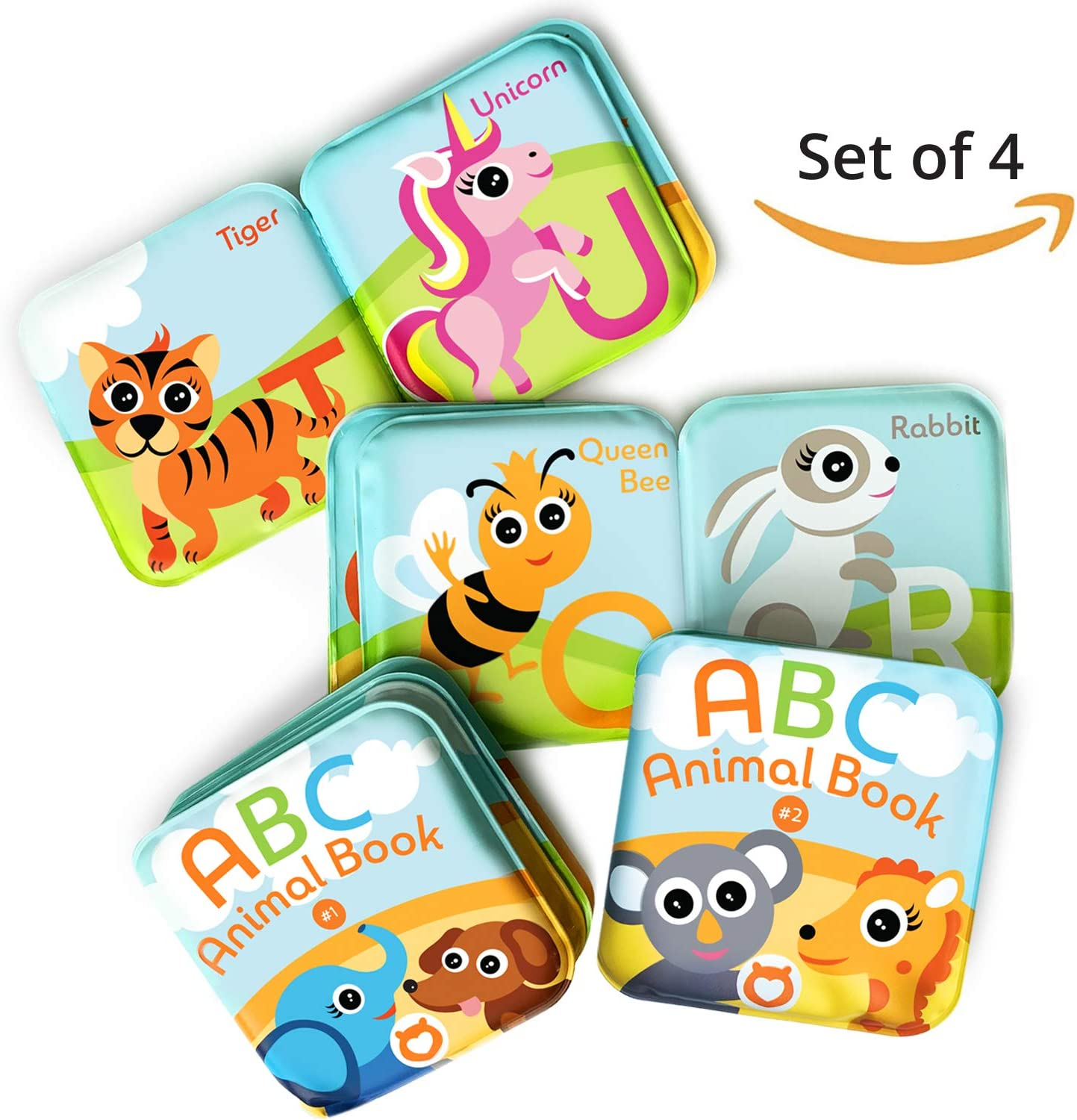Waterproof Bath Time Baby Books C Xiaoyu Floating Baby Bath Books Pack of 2 Kids Learning Bath Toys